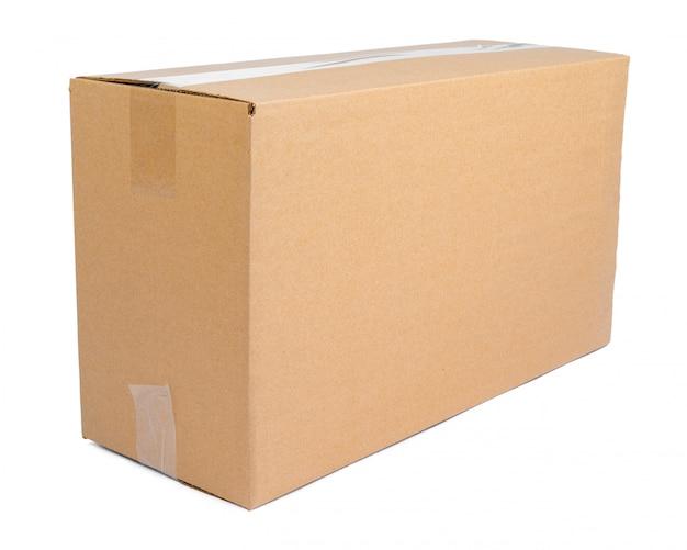 Single carton moving box isolated