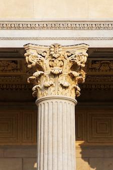Single column on antique building