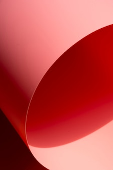 Single curved sheet of paper