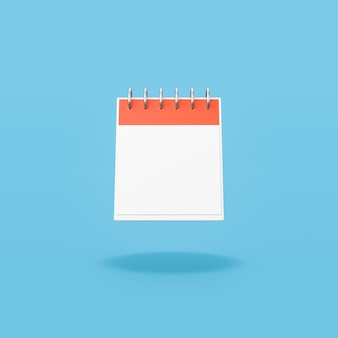 Single day calendar with blank date on blue background