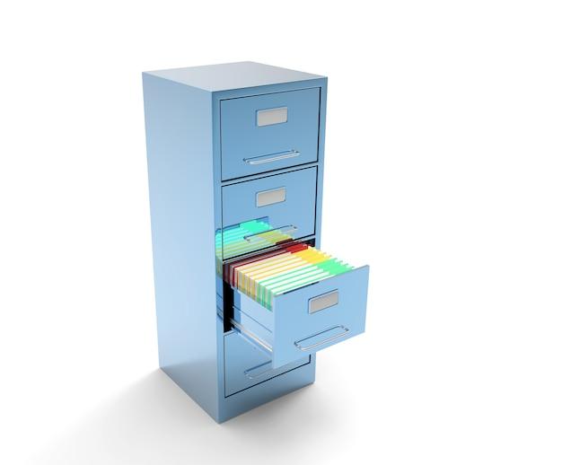 分離された単一のファイル キャビネット