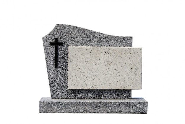 Single gravestone cut out (clipping path)