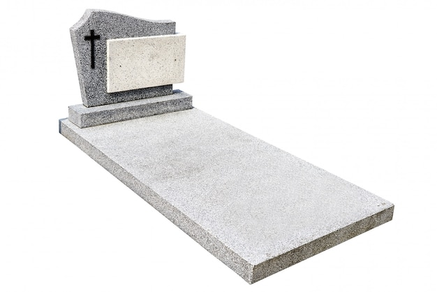 Single gravestone cut out