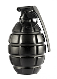 Single grenade on isolated white background