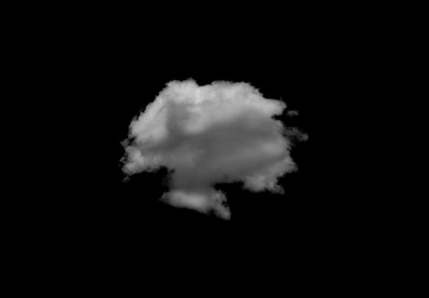 分離された白い雲のシングル
