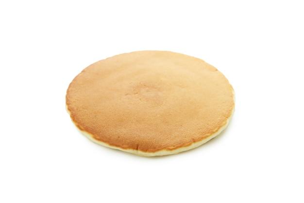 Single tasty pancake isolated on white background