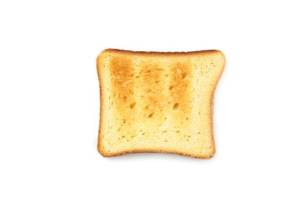 分離された単一のトースト。上面図。
