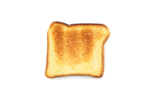 シングルトーストトーストが分離されました。上面図。
