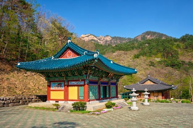 Храм синхынса в национальном парке сораксан, сораксан, южная корея