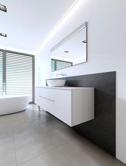 Sink vanity contemporary style. 3d rendering