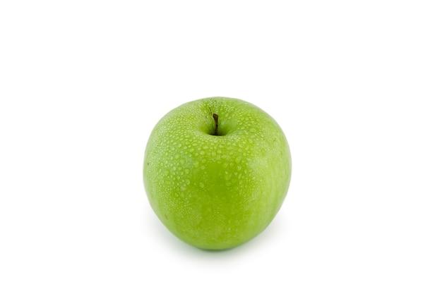 Одноцветное яблоко. изолированные над белой