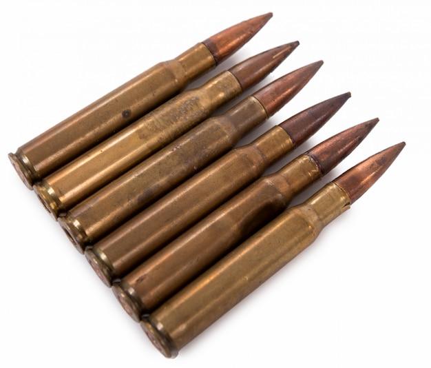 Six military cartridges