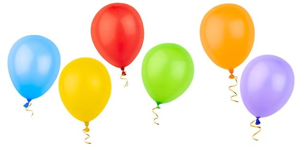 Шесть разноцветных шаров изолированы