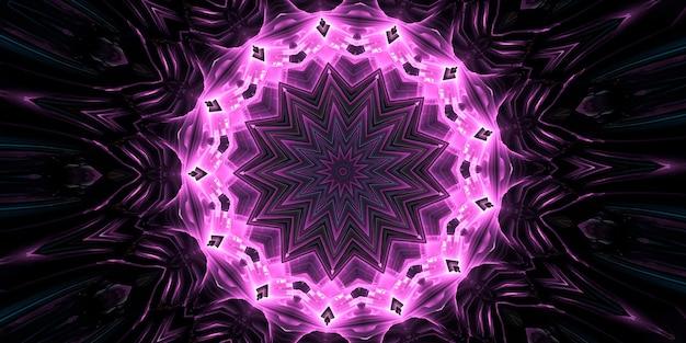Шестое чувство. калейдоскоп психической среды. абстрактный фон с калейдоскопическими формами, трансом и концепцией медитации. акриловые яркие краски образуют круглый узор мандалы самых разных форм.