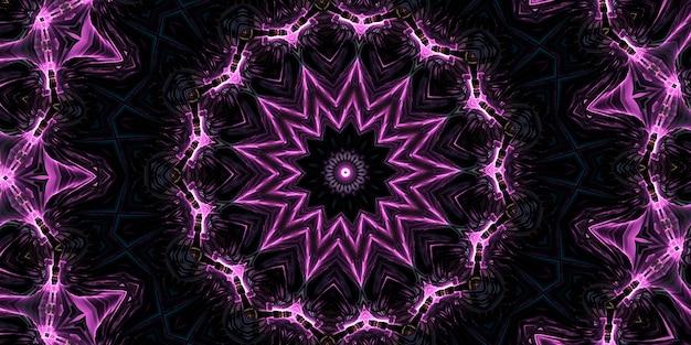 Шестое чувство. калейдоскоп психической среды. абстрактный фон с калейдоскопическими формами, трансом и концепцией медитации. акриловые яркие краски, образующие круглый узор мандалы самых разных форм
