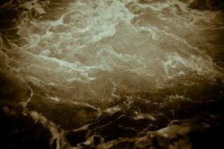Sizzling water texture, sea