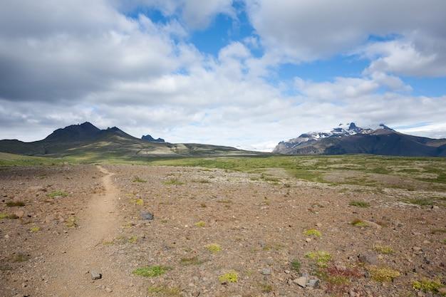 Skaftafell national park landscape, iceland landmark. icelandic panorama