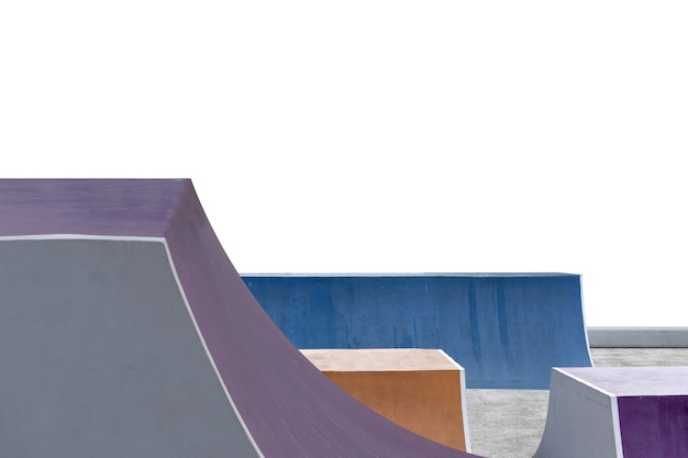 Скейт или площадка bmx, изолированные на белом фоне