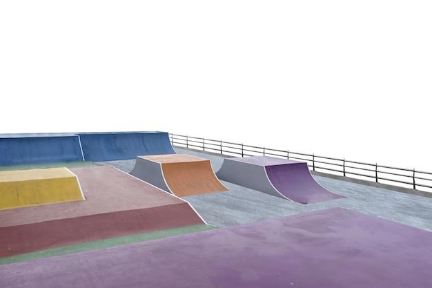 Скейт или площадка bmx, изолированные на белом фоне Premium Фотографии
