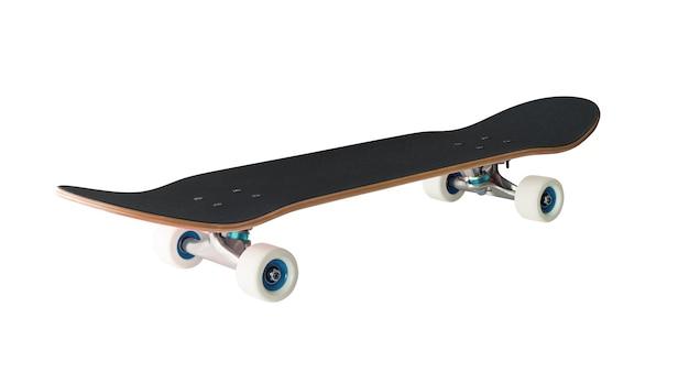 白で隔離のスケートボード。エクストリームスポーツ用品
