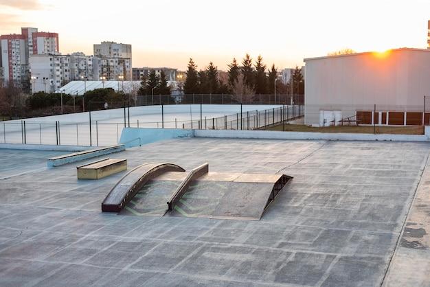 Skateboard rink view