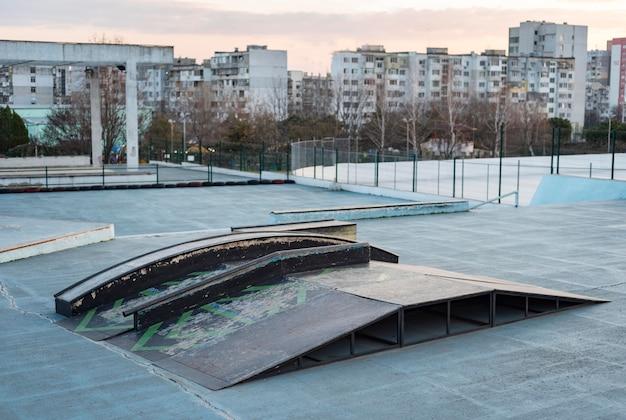 Vista della pista di skateboard
