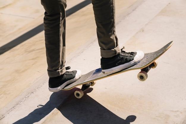 Skater doing trick