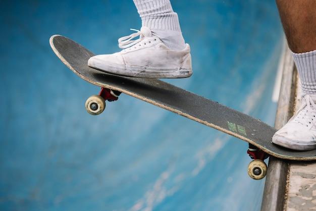 Skater starting to ride