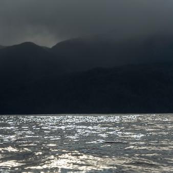 海景、skeena-queenシャーロット地域地区、ヒッパ島、ハイダ・グワイ、グラハム島の眺め
