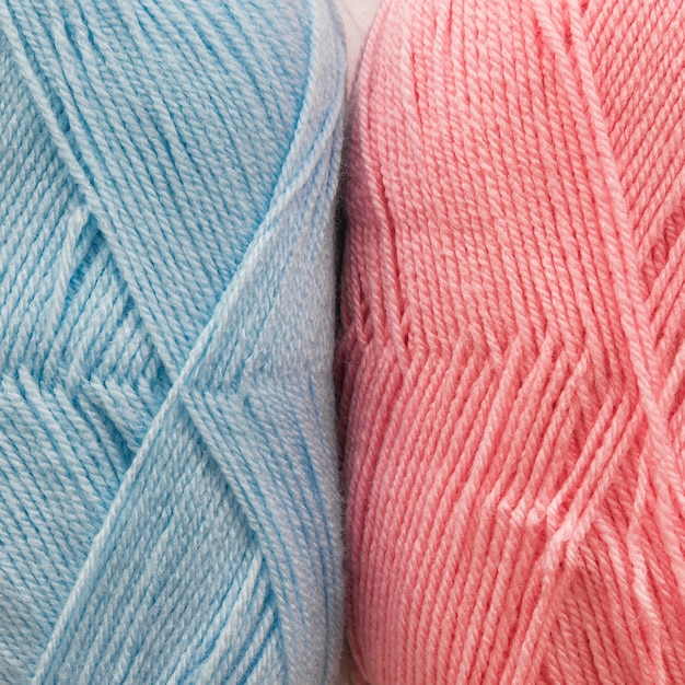 Skeins of natural yarn