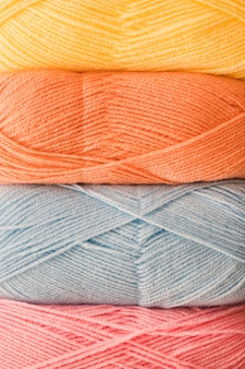Skeins of soft yarn