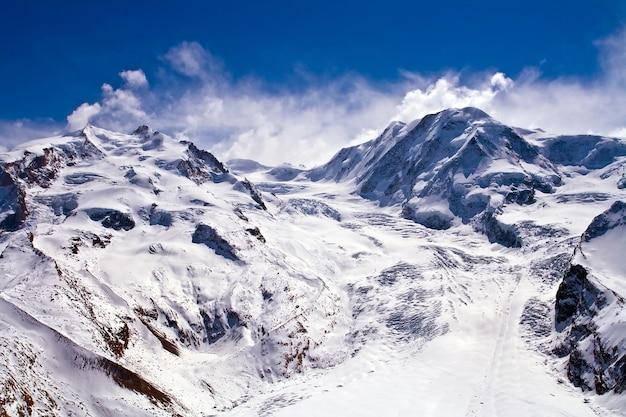 마 테 호른 스위스에서 스키 경로