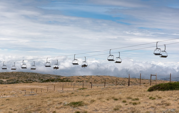 Ski resort in the serra da estrela