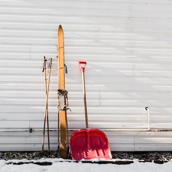 지팡이와 스페이드 스키