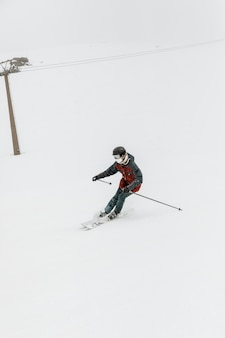 Skier doing sport full shot
