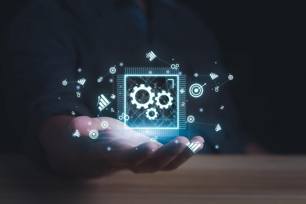기술 교육 학습 개인 개발 역량 비즈니스 및 기술 개념입니다.