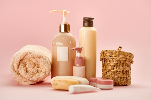 Skin care products . healthcare procedures concept, hygiene cosmetic, healthy lifestyle, spa