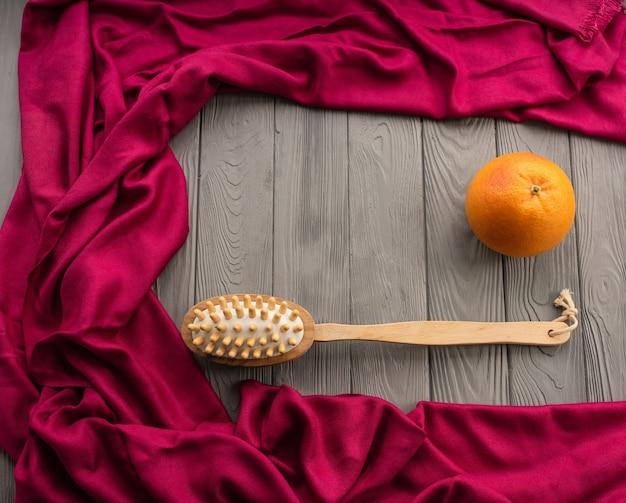 Подготовка кожи тела пляж антицеллюлитный массаж кисть кактуса большая апельсиновая корка.