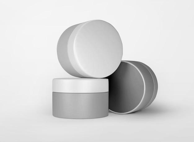 Confezione per prodotti di bellezza in vasetto per la cura della pelle