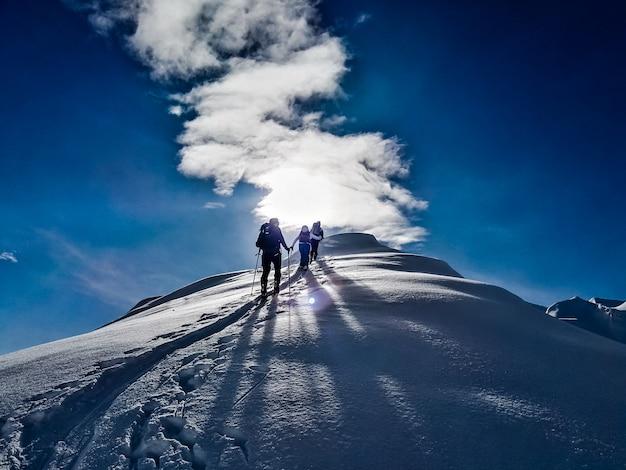 Skitouring winter sport