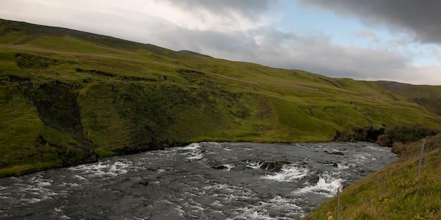 Skoga river whitewater in steep river valley