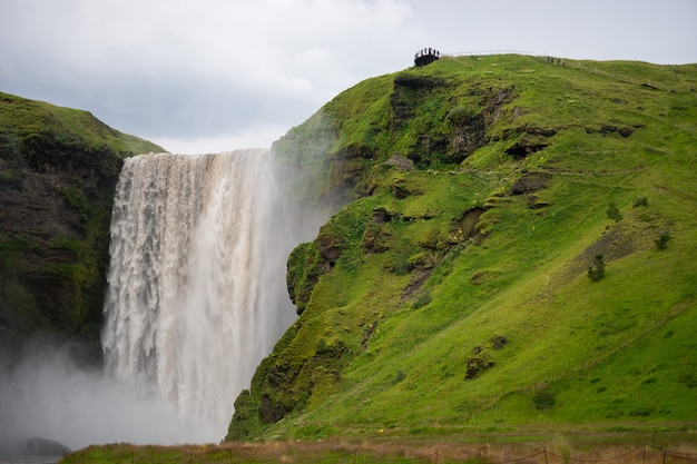 Водопад скогафосс, самый большой водопад в скогаре.