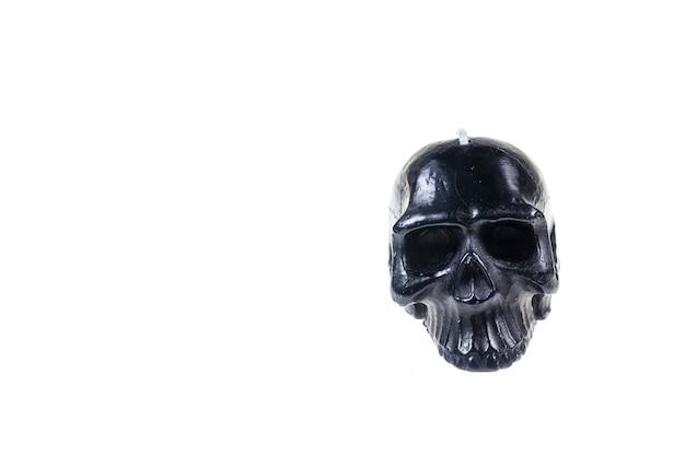 Skull candel on white background.
