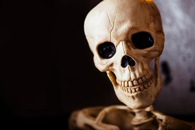 Skull with black eyes