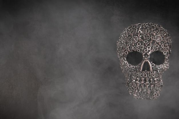 두개골과 연기