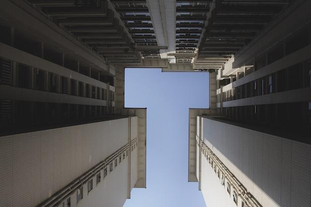 중국의 하늘과 아파트