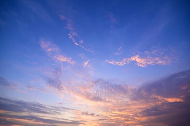 Небо и солнце вечером