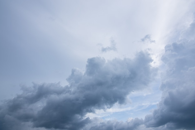 Sky background and rain clouds
