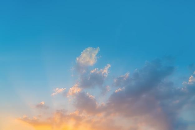 Sky background on sunrise. nature composition