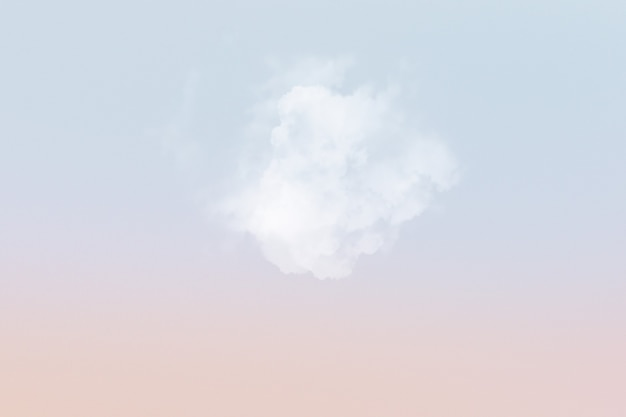 Sky background with white cloud